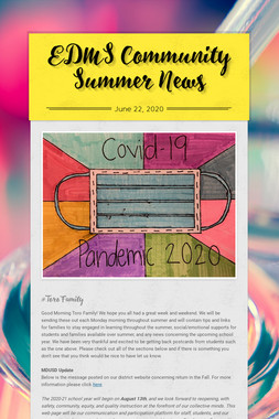 EDMS Community Summer News