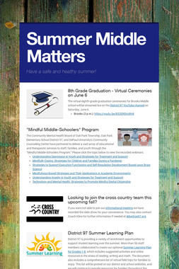 Summer Middle Matters