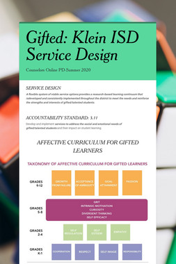Gifted: Klein ISD Service Design