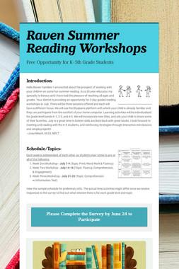 Raven Summer Reading Workshops