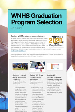 WNHS Graduation Program Selection