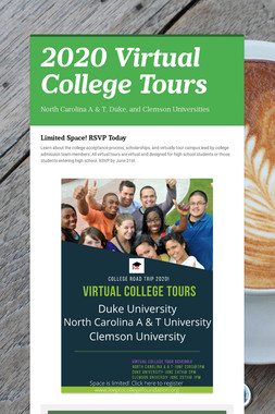 2020 Virtual College Tours