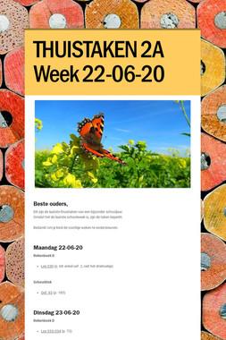 THUISTAKEN 2A Week 22-06-20