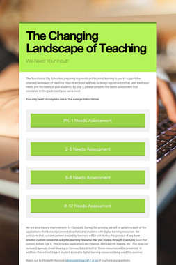The Changing Landscape of Teaching