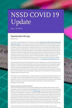 NSSD COVID 19 Update