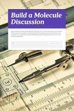 Build a Molecule Discussion