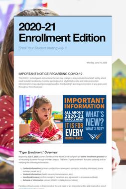 2020-21 Enrollment Edition