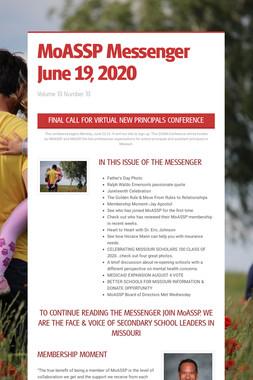 MoASSP Messenger June 19, 2020