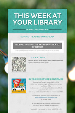 This Week at Your Library
