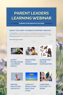 Parent Leaders Learning Webinar