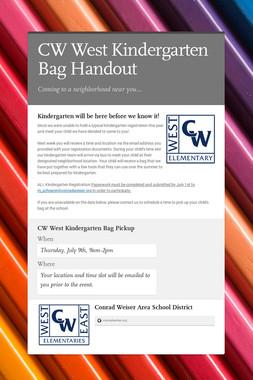 CW West Kindergarten Bag Handout