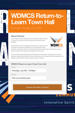 WDMCS Return-to-Learn Town Hall