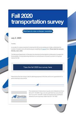 Fall 2020 transportation survey