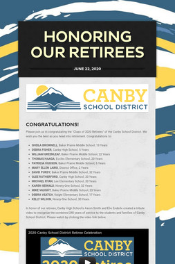 HONORING OUR RETIREES
