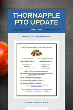 Thornapple PTO Update