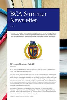 BCA Summer Newsletter