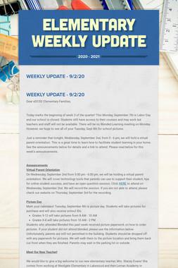 Elementary Weekly Update