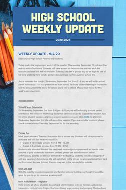 High School Weekly Update