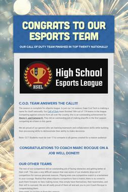Congrats to Our Esports Team