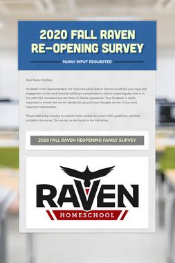 2020 Fall Raven Re-Opening Survey