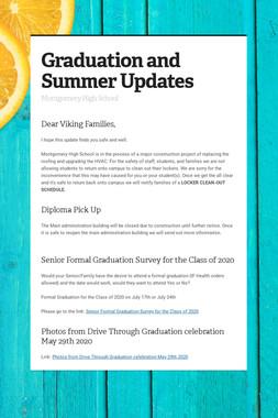 Graduation and Summer Updates