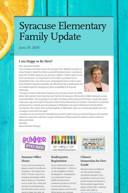 Syracuse Elementary Family Update
