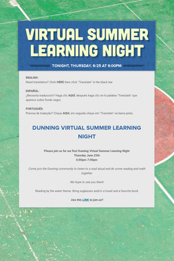 Virtual Summer Learning Night