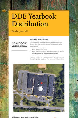 DDE Yearbook Distribution