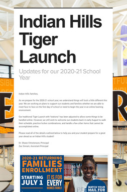 Indian Hills Tiger Launch