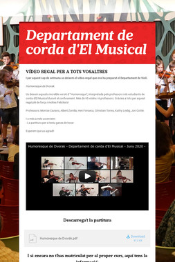 Departament de corda d'El Musical