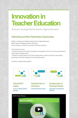 Innovation in Teacher Education