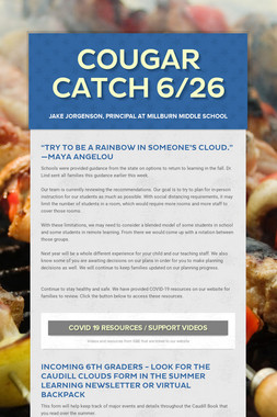 Cougar Catch 6/26
