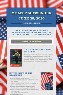 MoASSP Messenger June 26, 2020
