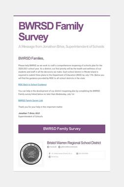 BWRSD Family Survey