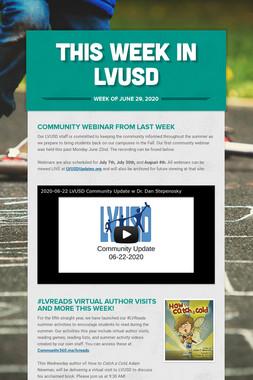 This Week in LVUSD