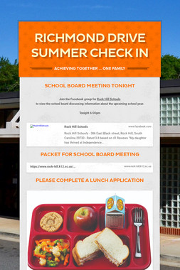 Richmond Drive Summer Check In