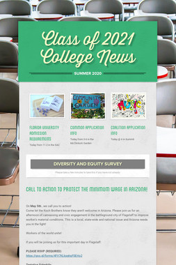 Class of 2021 College News