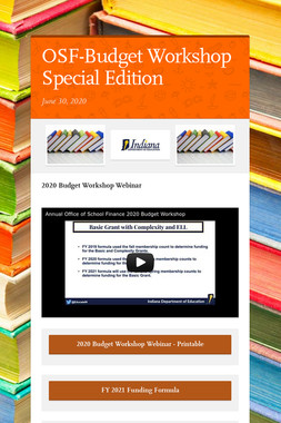 OSF-Budget Workshop Special Edition