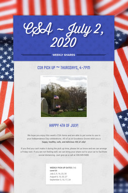 CSA ~ July 2, 2020