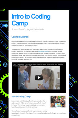 Intro to Coding Camp