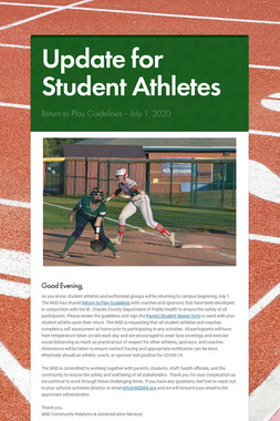 Update for Student Athletes