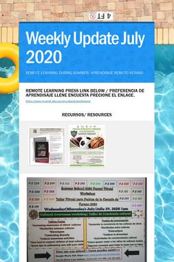 Weekly Update July 2020