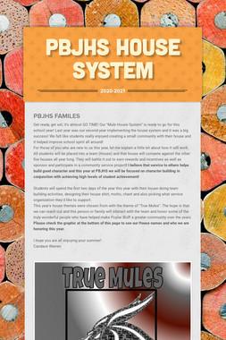 PBJHS House System