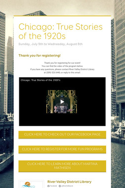 Chicago: True Stories of the 1920s