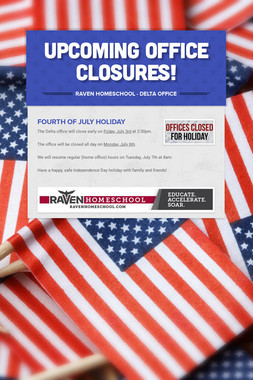 Upcoming Office Closures!