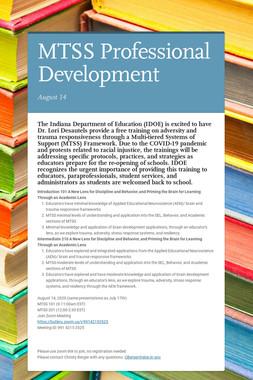 MTSS Professional Development