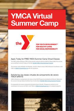 YMCA Virtual Summer Camp