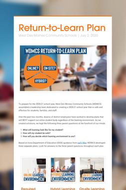 Return-to-Learn Plan