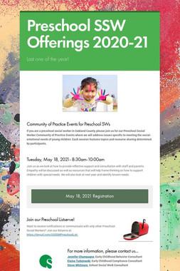 Preschool SSW Offerings 2020-21