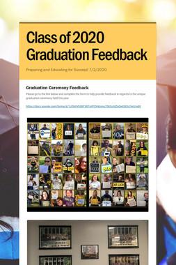 Class of 2020 Graduation Feedback